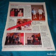 Coleccionismo de Revistas: RECORTE : MICHAEL JACKSON CON SOFIA LOREN. MASSIEL. LECTURAS, JULIO 1988(#). Lote 290007953