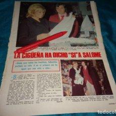 Coleccionismo de Revistas: RECORTE : SALOME, ESPERA SU PRIMER HIJO. LECTURAS, MARZO 1972(#). Lote 293936058