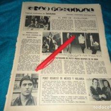 Coleccionismo de Revistas: RECORTE : ACTUACION DE PATTY PRAVO, DESPUES DE SU BODA. LECTURAS, MARZO 1972(#). Lote 293936143
