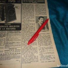 Coleccionismo de Revistas: RECORTE : JOSE SEPULVEDA. LECTURAS, MARZO 1972(#). Lote 293936358