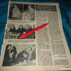 Coleccionismo de Revistas: RECORTE : DON ALFONSO DE BORBON, CABALLERO INFANZON DE ILLESCAS. LECTURAS, MARZO 1972(#). Lote 293936468