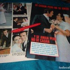 Coleccionismo de Revistas: RECORTE : BODA DE FICCION DE MONICA RANDAL Y RICARDO MERINO. LECTURAS, MARZO 1972(#). Lote 293936608