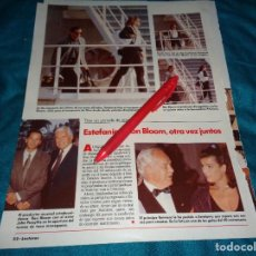 Coleccionismo de Revistas: RECORTE : ESTEFANIA DE MONACO Y RON BLOOM. LECTURAS, JULIO 1989(#). Lote 293939928