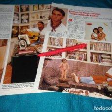Coleccionismo de Revistas: RECORTE : ENRIQUE DEL POZO, CONFIESA QUE TIENE UN HIJO. LECTURAS, JULIO 1989(#). Lote 293940003