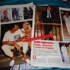 Coleccionismo de Revistas: RECORTE : JULIO IGLESIAS, TRABAJO, DESCANSO Y AMOR EN ESPAÑA. LECTURAS, AGTO 1988(#). Lote 295025178