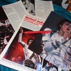 Coleccionismo de Revistas: RECORTE : MICHAEL JACKSON, COMO NACE Y SE HACE UN GENIO. LECTURAS, AGTO 1988(#). Lote 295025328