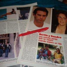 Coleccionismo de Revistas: RECORTE : BERTIN OSBORNE Y SANDRA, SEPARACION CUANDO ESPERAN UN HIJO. LECTURAS, AGTO 1988(#). Lote 295025638
