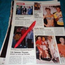 Coleccionismo de Revistas: RECORTE : CARMEN CERVERA. JOSE CARRERAS. LECTURAS, AGTO 1988(#). Lote 295025878