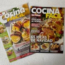 Coleccionismo de Revistas: 2 REVISTA COCINA FÁCIL DE LECTURAS 131 Y 264. Lote 295342093