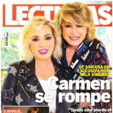 Colecionismo de Revistas: REVISTA LECTURAS: CARMEN BORREGO / MILA XIMENEZ / MARTA SANCHEZ / KEITH URBAN / ADRIANA UGARTE. Lote 295851183