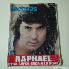 Coleccionismo de Revistas: LECTURAS 1040 RAPHAEL SOFIA LOREN CARMEN MARTINEZ BORDIU JAMES BOND 007 AUDREY HEPBURN VICTOR MANUEL. Lote 297097013
