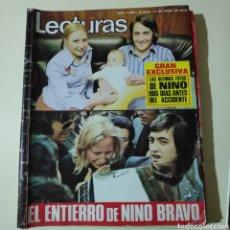 Coleccionismo de Revistas: LECTURAS 1098 NINO BRAVO A MARIA VIDAL PEDRO CARRASCO ANGEL NIETO ANALIA GADE ROMERO MARCHENT SALOME. Lote 297100423