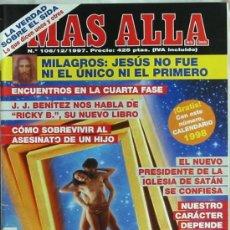 Coleccionismo de Revista Más Allá: REVISTA MÁS ALLÁ - Nº 106 - DICIEMBRE DE 1997 - VER PORTADA E ÍNDICE. Lote 182840643