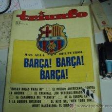 Coleccionismo de Revista Más Allá: REVISTA TRIUNFO DE 1969 MAS ALLA DEL FUTBOL BARÇA. Lote 35719602