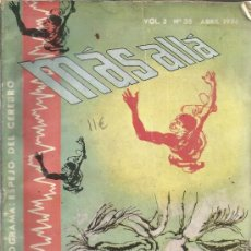Coleccionismo de Revista Más Allá: MÁS ALLÁ. VOL. 3. Nº 35. EDITORIAL ABRIL. ARGENTINA. 1956. Lote 39219784