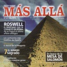 Coleccionismo de Revista Más Allá: MAS ALLA N. 317 - EN PORTADA: LA SABIDURIA DE LA GRAN PIRAMIDE (NUEVA). Lote 135321247
