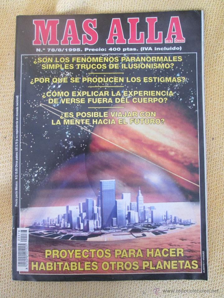 REVISTA MAS ALLA Nº 78 AÑO 1995 (Coleccionismo - Revistas y Periódicos Modernos (a partir de 1.940) - Revista Más Allá)