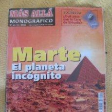 Collectionnisme de Magazine Más Allá: REVISTA MAS ALLA MONOGRAFICO Nº 41 AÑO 2002 - MARTE EL PLANETA INCOGNITO. Lote 55319540