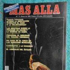 Coleccionismo de Revista Más Allá: REVISTA MAS ALLA Nº 71 AÑO 1995 - LA PIRAMIDE DE KEOPS -LA MEDITACION - SAI BABA - VIDA Y MUERTE. Lote 69892313