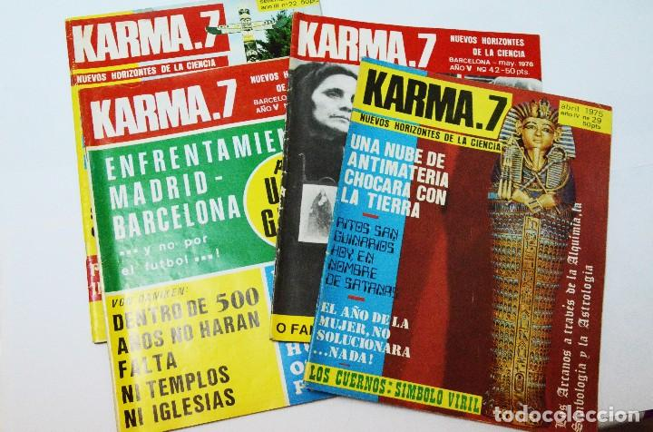 LOTE 4 REVISTAS KARMA7 KARMA 7 OVNIS PARAPSICOLOGÍA MISTERIO (Coleccionismo - Revistas y Periódicos Modernos (a partir de 1.940) - Revista Más Allá)