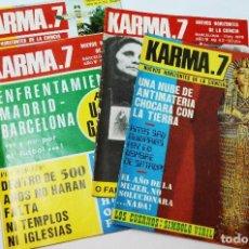 Coleccionismo de Revista Más Allá: LOTE 4 REVISTAS KARMA7 KARMA 7 OVNIS PARAPSICOLOGÍA MISTERIO . Lote 70263093