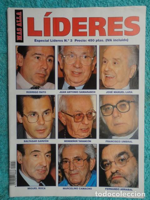 MAS ALLA - LIDERES - ESPECIAL LIDERES , N. º 3 - 1.994 (Coleccionismo - Revistas y Periódicos Modernos (a partir de 1.940) - Revista Más Allá)