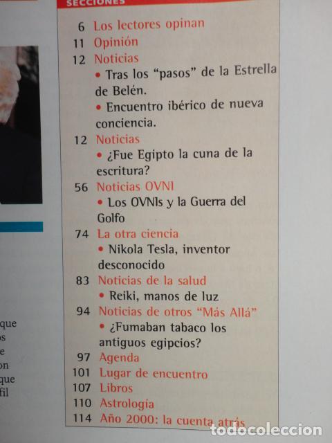 Coleccionismo de Revista Más Allá: REVISTA MAS ALLA N º 120 ,AÑO 1.999 - MILAGROS DE HOY - OVNIS - TABLAS MAGICAS - MEDITACION - Foto 11 - 72149615