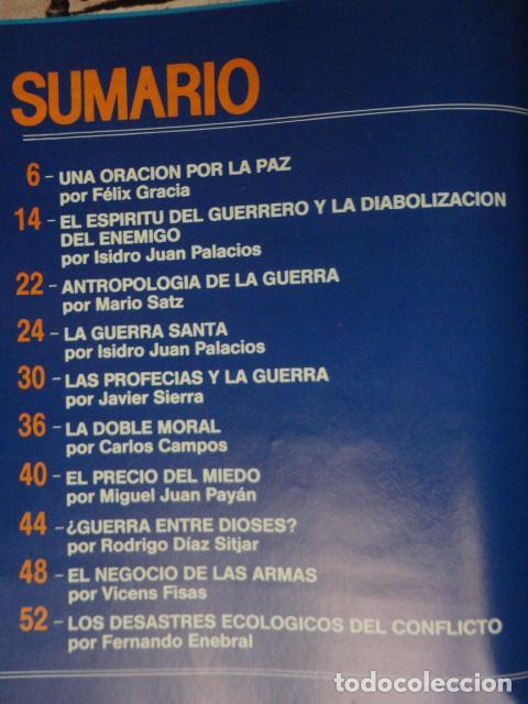 Coleccionismo de Revista Más Allá: REVISTA MAS ALLA ,Nº EXTRA , AÑO 1.991 - GUERRA Y PAZ - ( GUERRA DEL GOLFO ) - Foto 3 - 72236855
