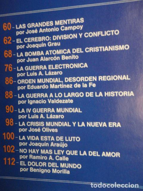 Coleccionismo de Revista Más Allá: REVISTA MAS ALLA ,Nº EXTRA , AÑO 1.991 - GUERRA Y PAZ - ( GUERRA DEL GOLFO ) - Foto 4 - 72236855