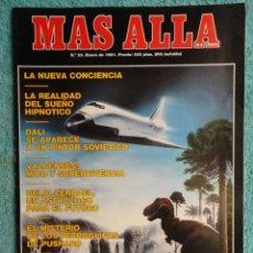 Coleccionismo de Revista Más Allá: REVISTA MAS ALLA , Nº 23 AÑO 1.991 - LA NUEVA CONCIENCIA - LOS VALDENSES - LOS NUEVOS HIJOS DE JACOB. Lote 72243891