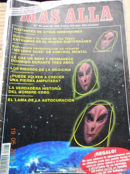 MAS ALLA N 65 - VISITANTES OTRAS DIMENSIONES - HOMBRE LOBO - LAMA - AUTOCURACION (Coleccionismo - Revistas y Periódicos Modernos (a partir de 1.940) - Revista Más Allá)