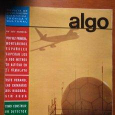 Coleccionismo de Revista Más Allá: REVISTA CIENTIFICA EDITORIAL HYMSA ALGO - 1969 - NUMERO 133 - MONTAÑEROS ESPAÑOLES HIMALAYA. Lote 84806624