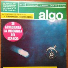 Coleccionismo de Revista Más Allá: REVISTA CIENTIFICA EDITORIAL HYMSA ALGO TECNICA Y CULTURAL - AÑOS 60 / 70 MUCHAS EN TIENDA . Lote 84807676