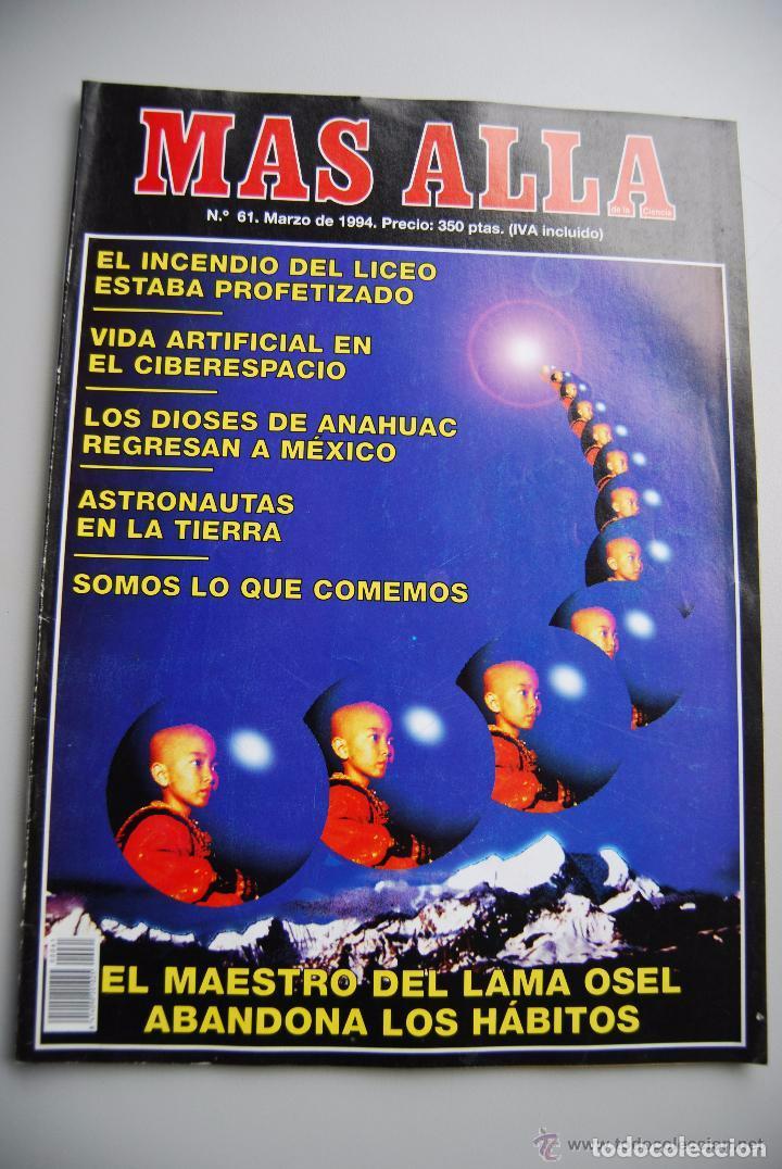 MAS ALLÁ NUMERO 61 AÑO 1994 INCENDIO DEL LICEO-MAESTRO DEL LAMA OSEL-DIOSES DE ANAHUA (Coleccionismo - Revistas y Periódicos Modernos (a partir de 1.940) - Revista Más Allá)