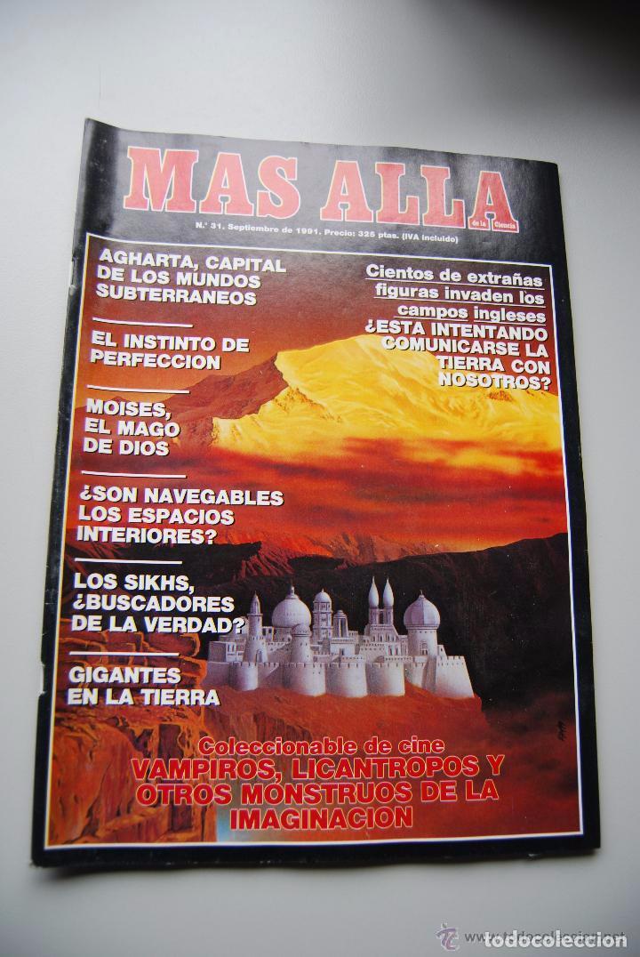 MAS ALLÁ NUMERO 31 AÑO 1991 AGHARTA-MOISES, EL MAGO DE DIOS-LOS SIKHS (Coleccionismo - Revistas y Periódicos Modernos (a partir de 1.940) - Revista Más Allá)