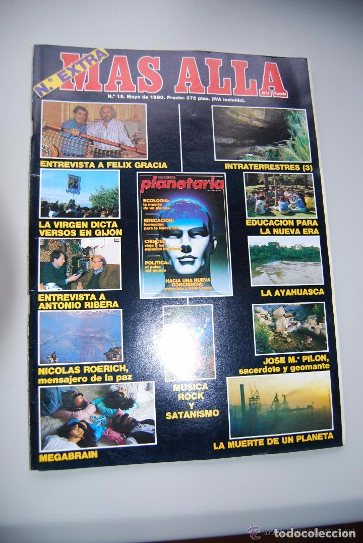MAS ALLÁ NUMERO 15 AÑO 1990 - FELIX GRACIA-INTRATERRESTRES-LA VIRGEN GIJÓN- AYAHUASCA --REFSAMUESC (Coleccionismo - Revistas y Periódicos Modernos (a partir de 1.940) - Revista Más Allá)