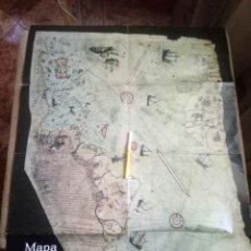 Coleccionismo de Revista Más Allá: MAPA DE PIRI REIS - MÁS ALLÁ. GRAN FORMATO. Lote 96029699