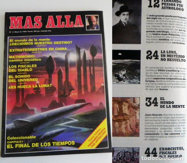 REVISTA MÁS ALLÁ 3 1989 MISTERIO ESOTERISMO FERNANDO JIMÉNEZ DEL OSO EXTRATERRESTRES MENTE EXORCISMO (Coleccionismo - Revistas y Periódicos Modernos (a partir de 1.940) - Revista Más Allá)