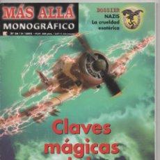 Coleccionismo de Revista Más Allá: REVISTA MÁS ALLÁ MONOGRÁFICO Nº 38 AÑO 2001 DOSSIER: CLAVES MÁGICAS DE LA SEGUNDA GUERRA MUNDIAL. Lote 101933115