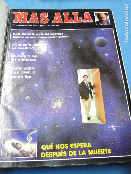 Coleccionismo de Revista Más Allá: UNA CARPETA CONTENIENDO LOS 12 PRIMEROS NÚMEROS 1ª EDICION,AÑO1989 - Foto 2 - 107506147
