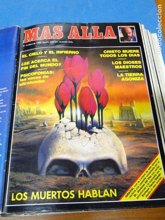 Coleccionismo de Revista Más Allá: UNA CARPETA CONTENIENDO LOS 12 PRIMEROS NÚMEROS 1ª EDICION,AÑO1989 - Foto 3 - 107506147