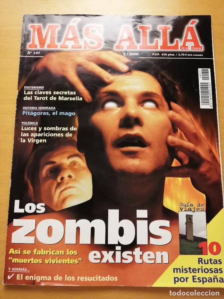 REVISTA MÁS ALLÁ Nº 137 (LOS ZOMBIS EXISTEN / JOSTEIN GAARDER / TAROT DE MARSELLA / PITÁGORAS ...) (Coleccionismo - Revistas y Periódicos Modernos (a partir de 1.940) - Revista Más Allá)