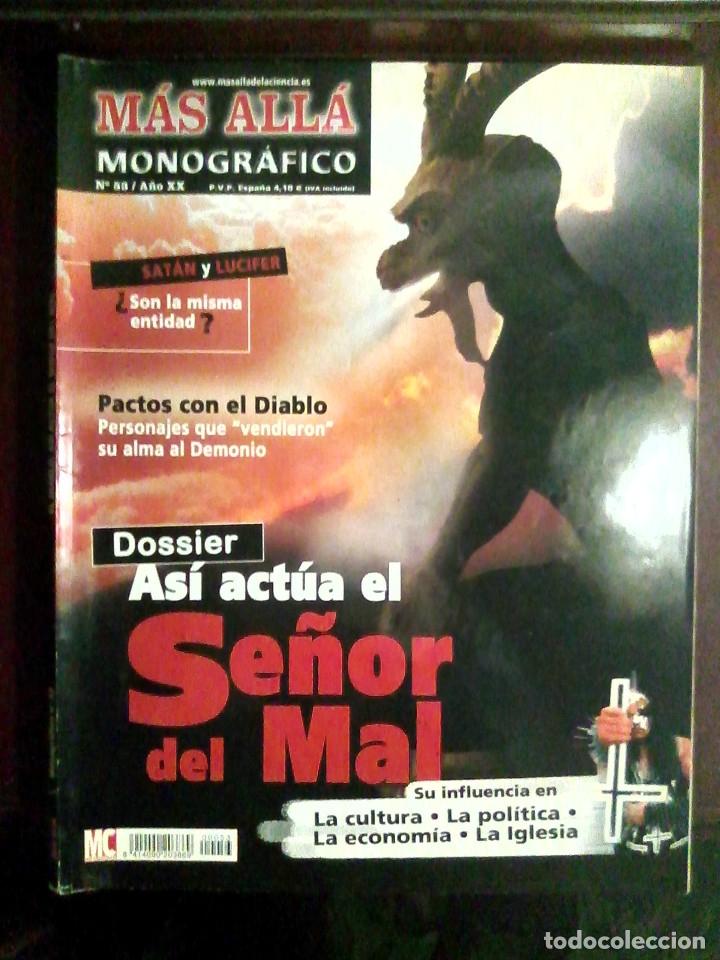 MONOGRÁFICO MÁS ALLÁ N.º 53 AÑO XX ASÍ ACTÚA EL SEÑOR DEL MAL (Coleccionismo - Revistas y Periódicos Modernos (a partir de 1.940) - Revista Más Allá)