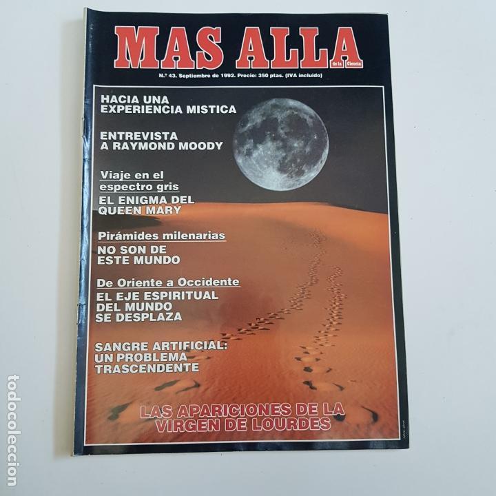 REVISTA MÁS ALLÁ. Nº43. SEPTIEMBRE 1992. APARICIONES DE LA VIRGEN DE LOURDES. TDKR66. (Coleccionismo - Revistas y Periódicos Modernos (a partir de 1.940) - Revista Más Allá)