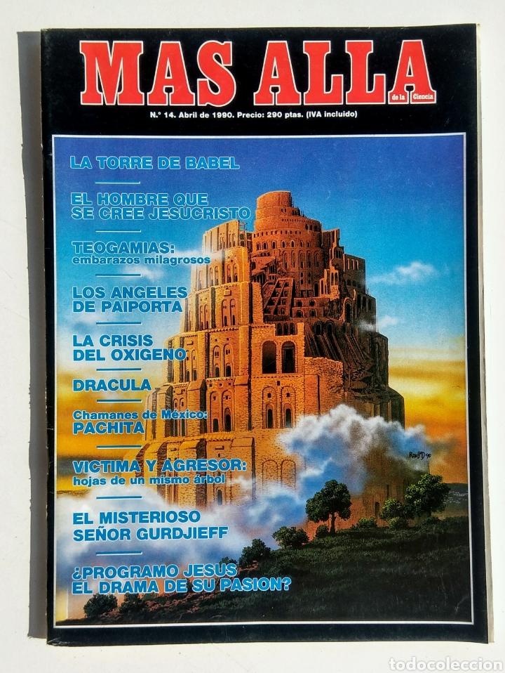LOTE DE 5 REVISTAS. MÁS ALLÁ. AÑO 1990. (Coleccionismo - Revistas y Periódicos Modernos (a partir de 1.940) - Revista Más Allá)