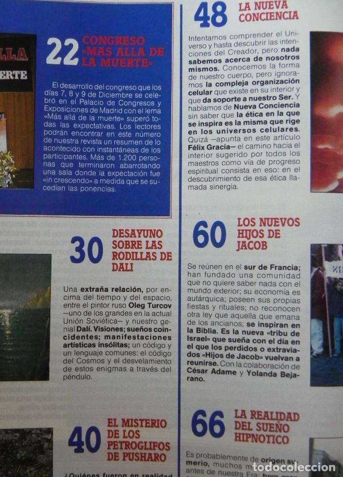 Coleccionismo de Revista Más Allá: REVISTA MÁS ALLÁ 23 AÑO 1991 MISTERIO ESOTERISMO SUEÑO HIPNOTISMO DALÍ HELIO ZENDAEL PETROGLIFOS ETC - Foto 2 - 179056711