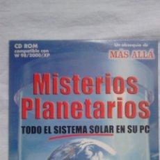 Coleccionismo de Revista Más Allá: MISTERIOS PLANETARIOS CD ROM REVISTA MÁS ALLÁ / ASTRONOMÍA. Lote 54548110