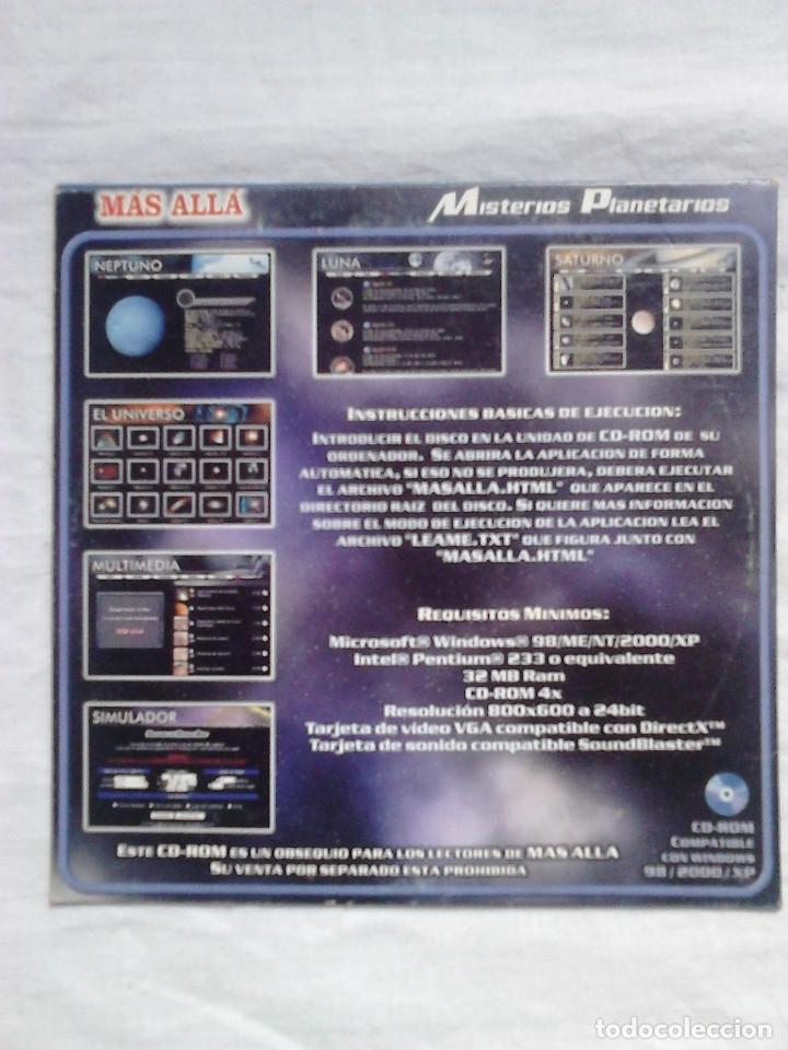 Coleccionismo de Revista Más Allá: Misterios planetarios CD ROM revista Más Allá / ASTRONOMÍA - Foto 2 - 54548110