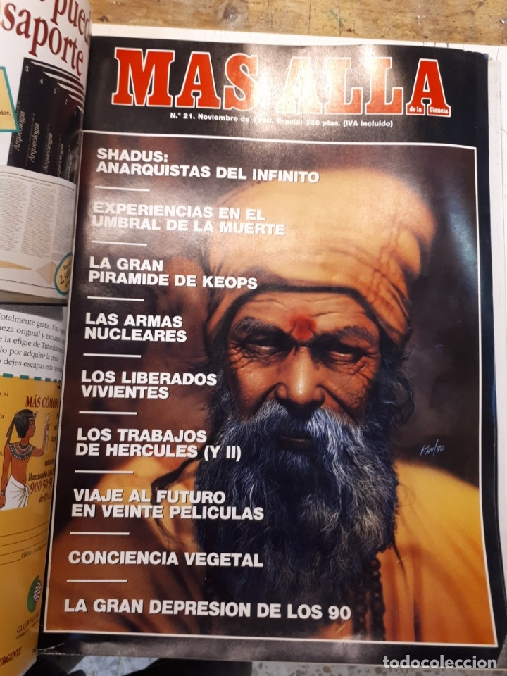 Coleccionismo de Revista Más Allá: Dos tomos Más Allá, 20 revistas - Foto 20 - 182838902