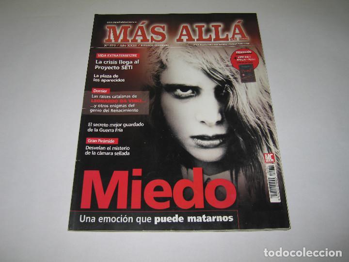 MÁS ALLÁ - NÚM. 270 - MIEDO UNA EMOCIÓN QUE PUEDE MATARNOS - 2011 (Coleccionismo - Revistas y Periódicos Modernos (a partir de 1.940) - Revista Más Allá)